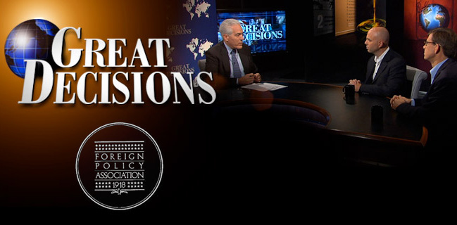 GREAT DECISIONS DISCUSSIONS ARE STARTING ON SEPTEMBER 10. JOIN NOW!