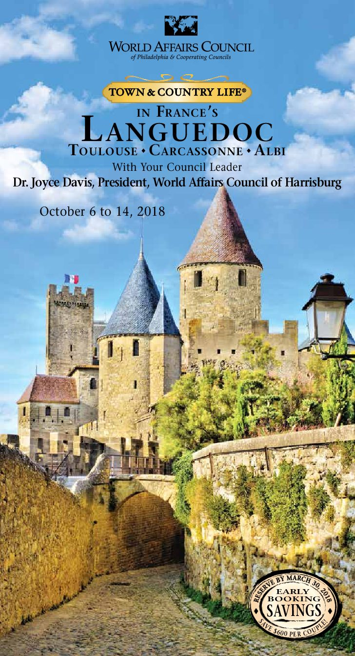 Travel to Southern France with the World Affairs Council of Harrisburg!