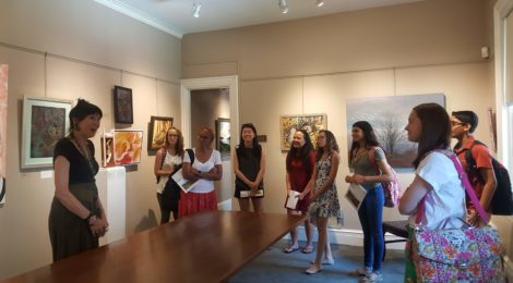 2018 SUMMER INTERNS LEARNING ABOUT ART & ACTIVISM!